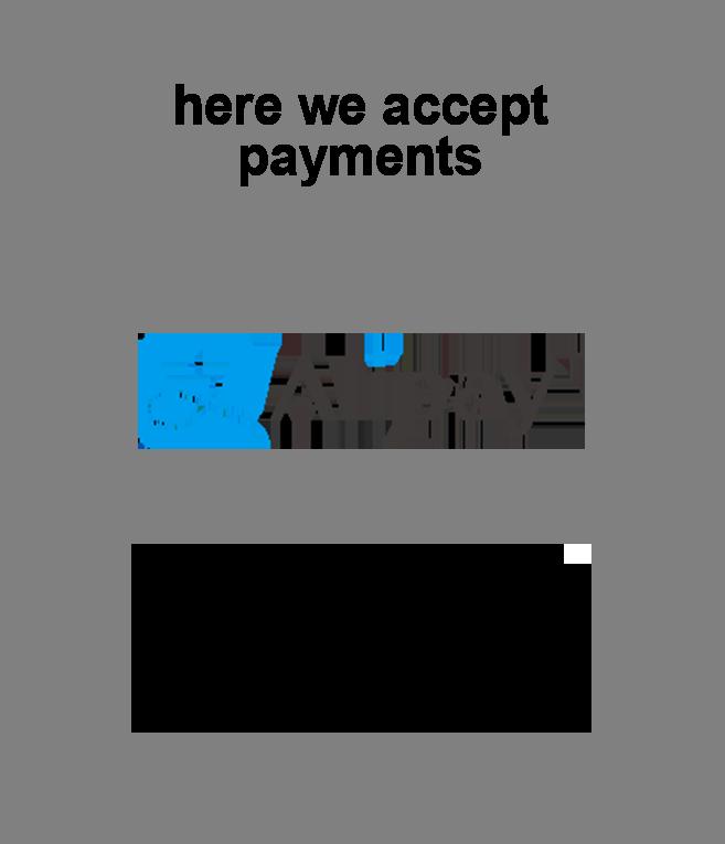 我們接受的付款 Alipay Apple Pay